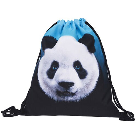 Women panda Backpack 3D printing travel bag - Pandarling