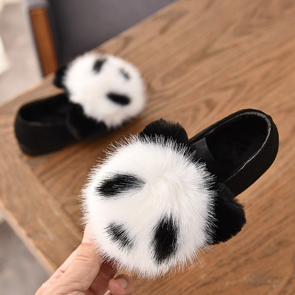 Winter Kids Cotton Shoes Warm Panda Children's Flats - Pandarling