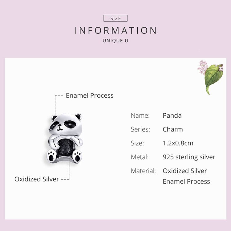 Panda Hug Metal Beads for Women Jewelry Making - Pandarling