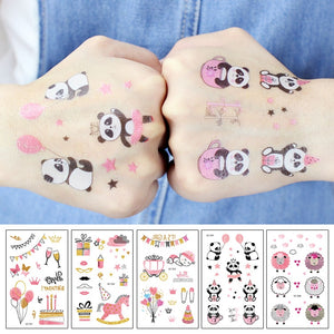 Rocooart Pink Tattoo Stickers For Girls - Pandarling