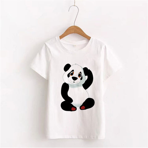 Panda Printed Graphic Tees Women T-shirts - Pandarling