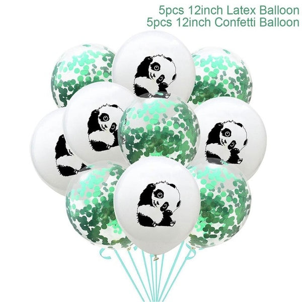 Party Balloons Panda  Round Ballons Accessories - Pandarling
