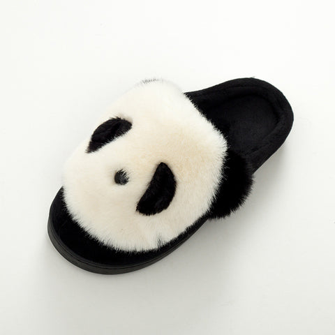 Winter Cute Furry Panda Slippers - Pandarling