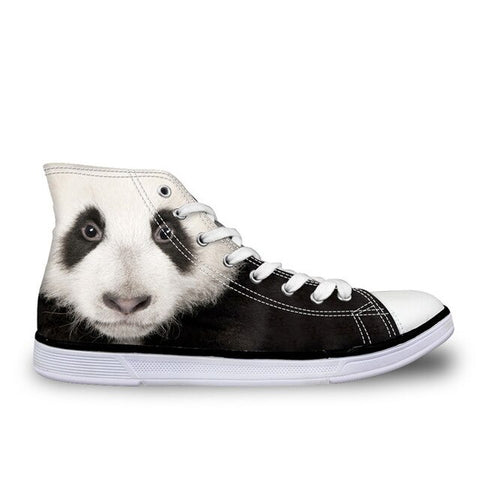 Panda High Top Canvas Shoes - Pandarling