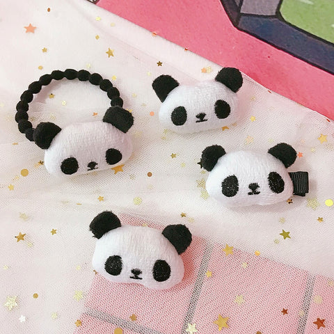 Little Girls' Soft Hair Ties Panda  Elastic Hair Band - Pandarling