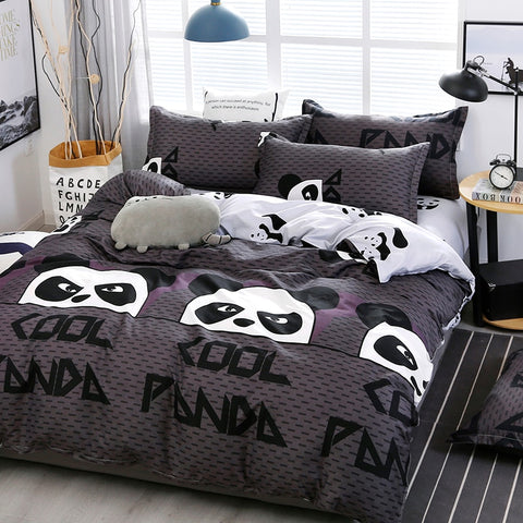 Cartoon Panda Pattern Bedding Set Pillowcase Covers - Pandarling