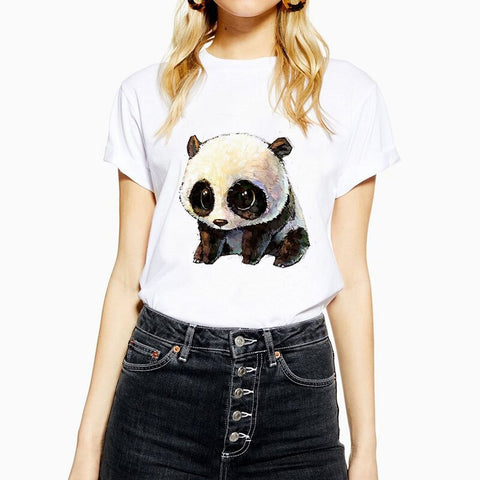Panda O-Neck Women's Cute Animal T-Shirt - Pandarling