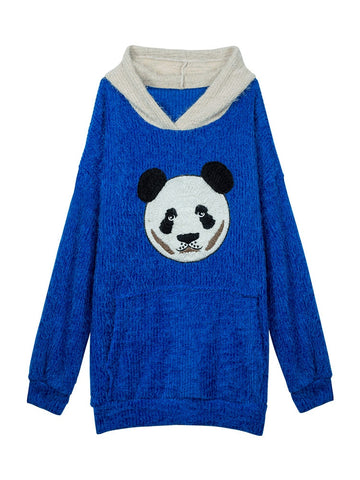 embroidery PandaWoman Pullovers sweater - Pandarling