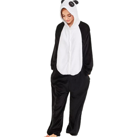 Winter Fleece Panda Jumpsuit Cute Panda playsuits - Pandarling