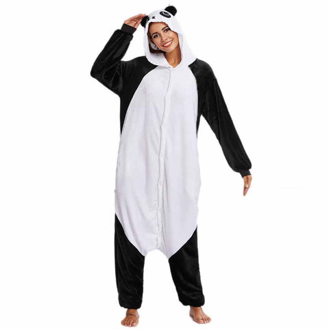 Flannel Panda Lover Cartoon Pajama Sleepwear - Pandarling