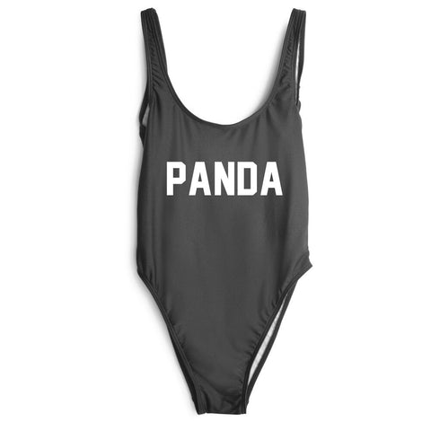one piece bodysuit PANDA letter print women jumpsuit - Pandarling
