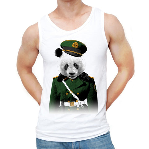 Casual Vest Hipster Panda Funny Printed Singlets - Pandarling