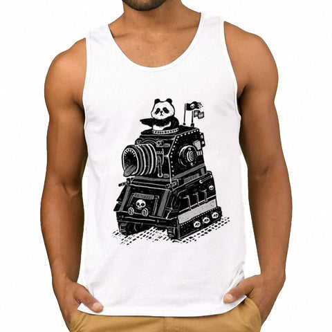 Print cool Panda Summer Tank Tops Vest - Pandarling