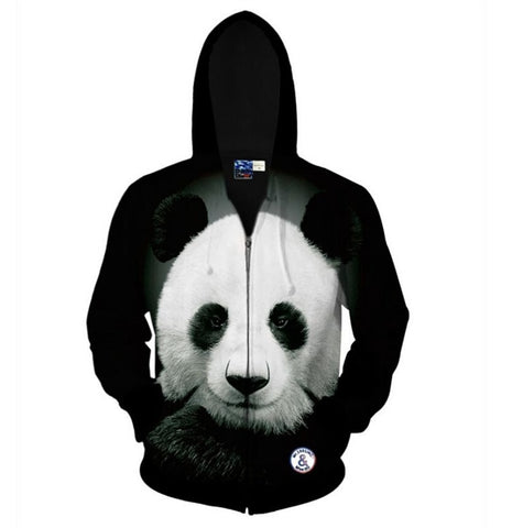 Creative Cute Panda Printed 3D Outerwears Sweatshirts Hoodies Coats - Pandarling