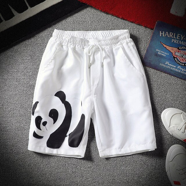 Men's Summer Casual 3D Cartoon Panda Printed Drawstring pants - Pandarling