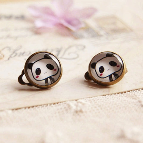 Cute Panda Clip Earrings - Pandarling