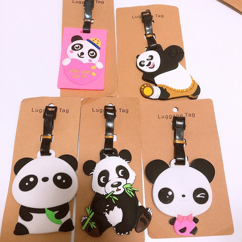 panda lovely Anime Luggage Tag PVC Portable Travel Label - Pandarling