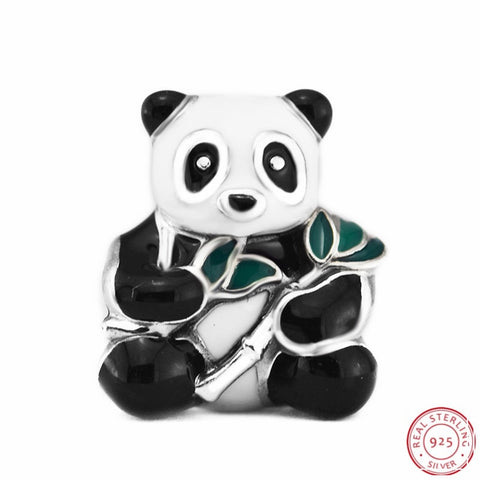 925 Sterling Silver Sweet Panda Beads Making Mascot or Gift - Pandarling