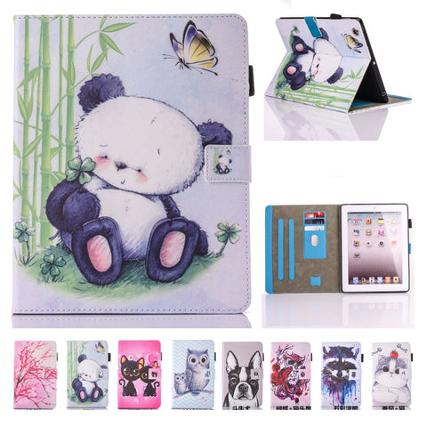 For Coque iPad 2  3 4 Case Panda Stand Case Cover - Pandarling