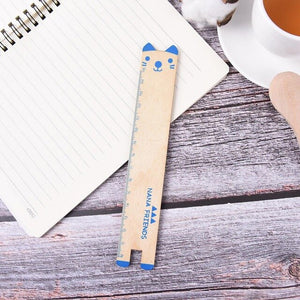 Wooden 15cm Cute Panda Ruler For School - Pandarling