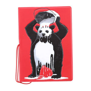 Passport Cover ID Card Holder Panda Design - Pandarling