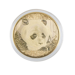 1Pcs 4cm Panda 2018 Chinese Souvenir Coin Plated Gold Commemorative Coin - Pandarling