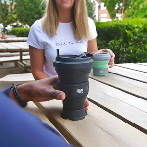 Black Travel Coffee Cup - WAFE Brands