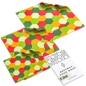 WAFE - Reusable Beeswax Wraps - Fruity Edition - Pack of 6+3