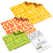 Load image into Gallery viewer, WAFE - Reusable Beeswax Wraps - Tribal Edition - Pack of 6+3