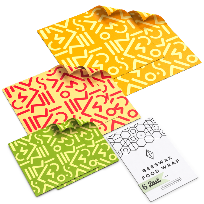 WAFE - Reusable Beeswax Wraps - Tribal Edition - Pack of 6+3
