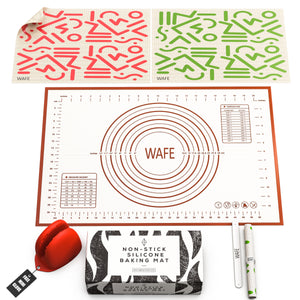 WAFE silicone pastry rolling mat set - 3PACK