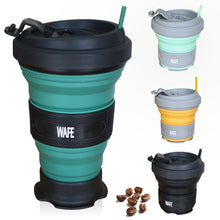 Load image into Gallery viewer, WAFE - Forest Green Spill Proof Travel Mug With Silicon Lid - Best Foldable Coffee Mug