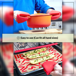 WAFE mini-oven kitchen silicone glove - Candy Red