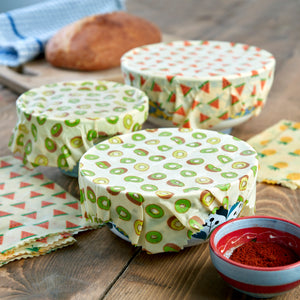 WAFE - Reusable Beeswax Food Wraps - Kiwi Edition - Pack of 3+3