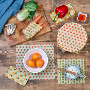 WAFE - Reusable Beeswax Food Wraps - Watermelon Edition - Pack of 3+3