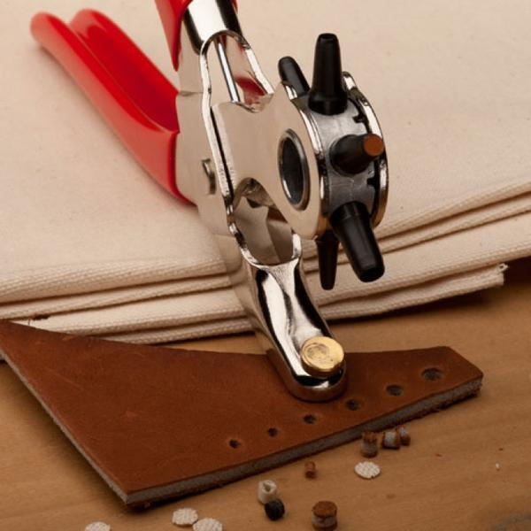 Upgrade in 2019!  6 Size Revolving Leather Belt Hand Hole Puncher