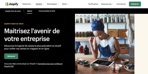 Page d'accueil Shopify POS