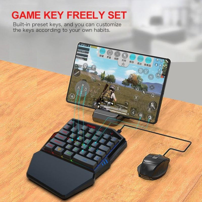 Gaming Keyboard Throne One Mouse Set (Black)