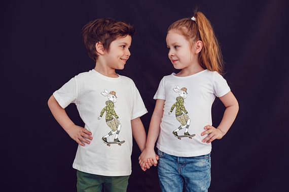 Hare Skater Kids Shirts Kids Tshirt Toddler Shirt