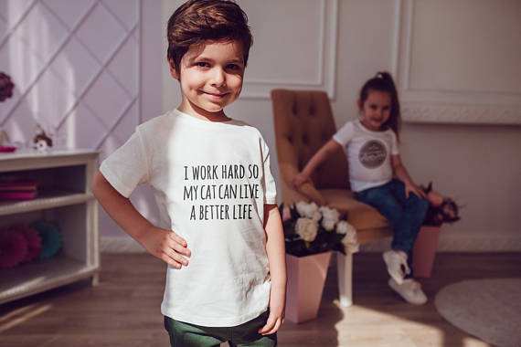 WORK HARD Kids Shirts Kids Tshirt Toddler Shirt