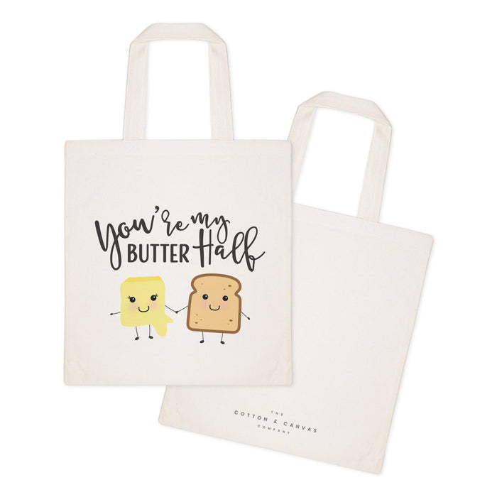 You're My Butter Half Cotton Canvas Tote Bag