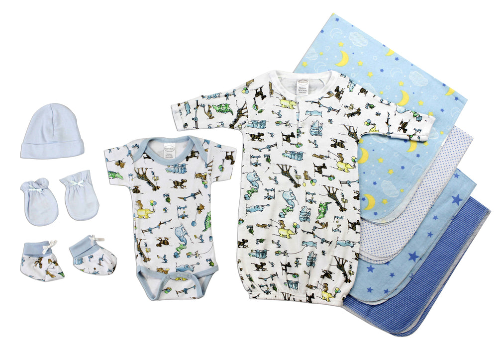 Newborn Baby Boys 9 Pc Layette Baby Shower Gift