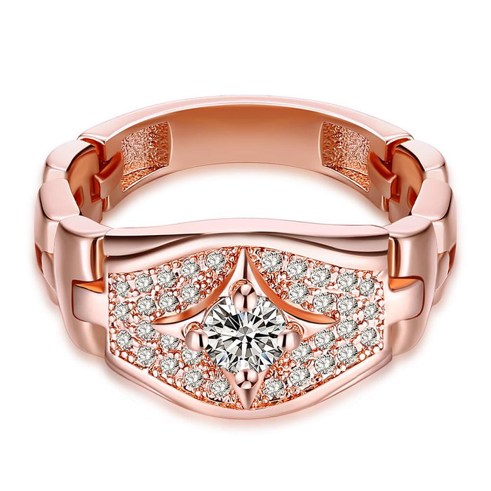 18K Rose Gold Plated Aurélie Ring made with Swarovski Crystals
