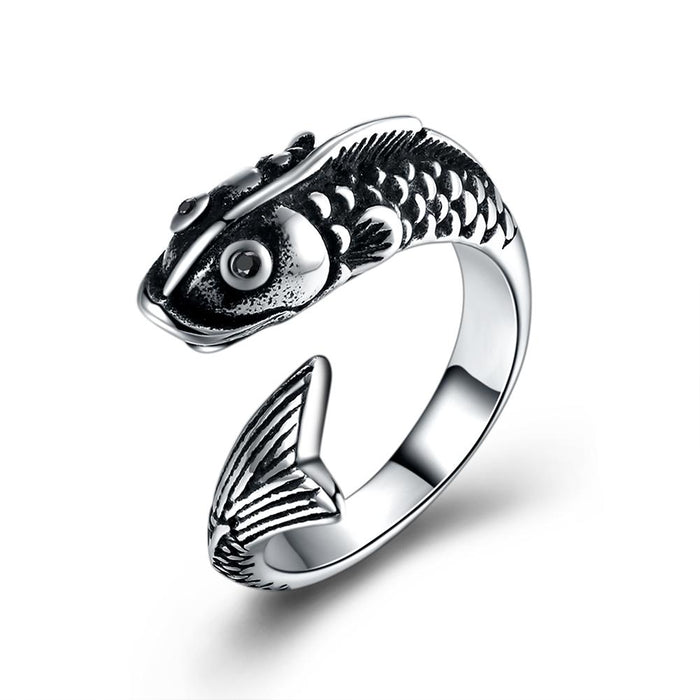 316L Stainless Steel Classic Pisces Men's Ring