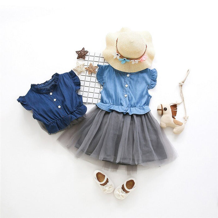 Sleeveless Denim Summer Dress
