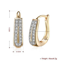 "0.60"" Double Row Huggie Earring in 18K Gold Plated-thumbnail"