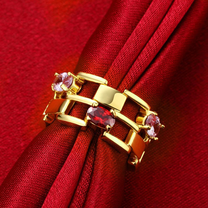 18K Gold Plated Martine Cocktail Ring made with Swarovski Crystals