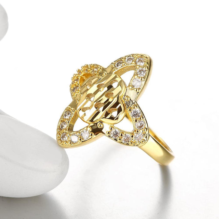 18K Gold Plated Maud Pave Ring made with Swarovski Crystals