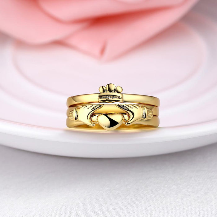 18K Gold Plated Melissa Stacked Row Ring