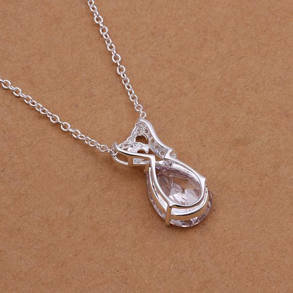 1.00 CT Necklace in 18K White Gold Plated with Swarovski Crystals